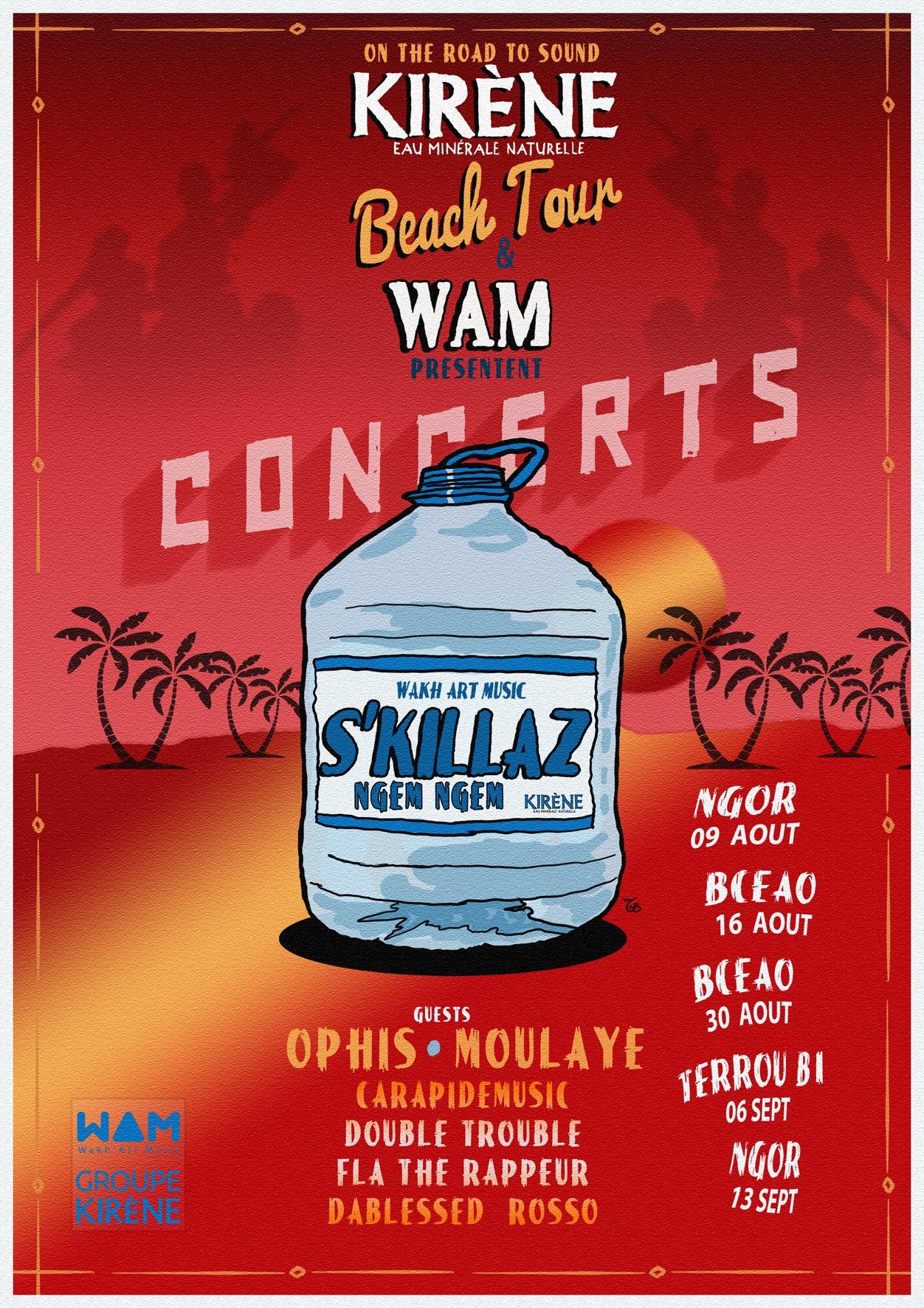 Kirene Beach Tour- S'killaz WAM