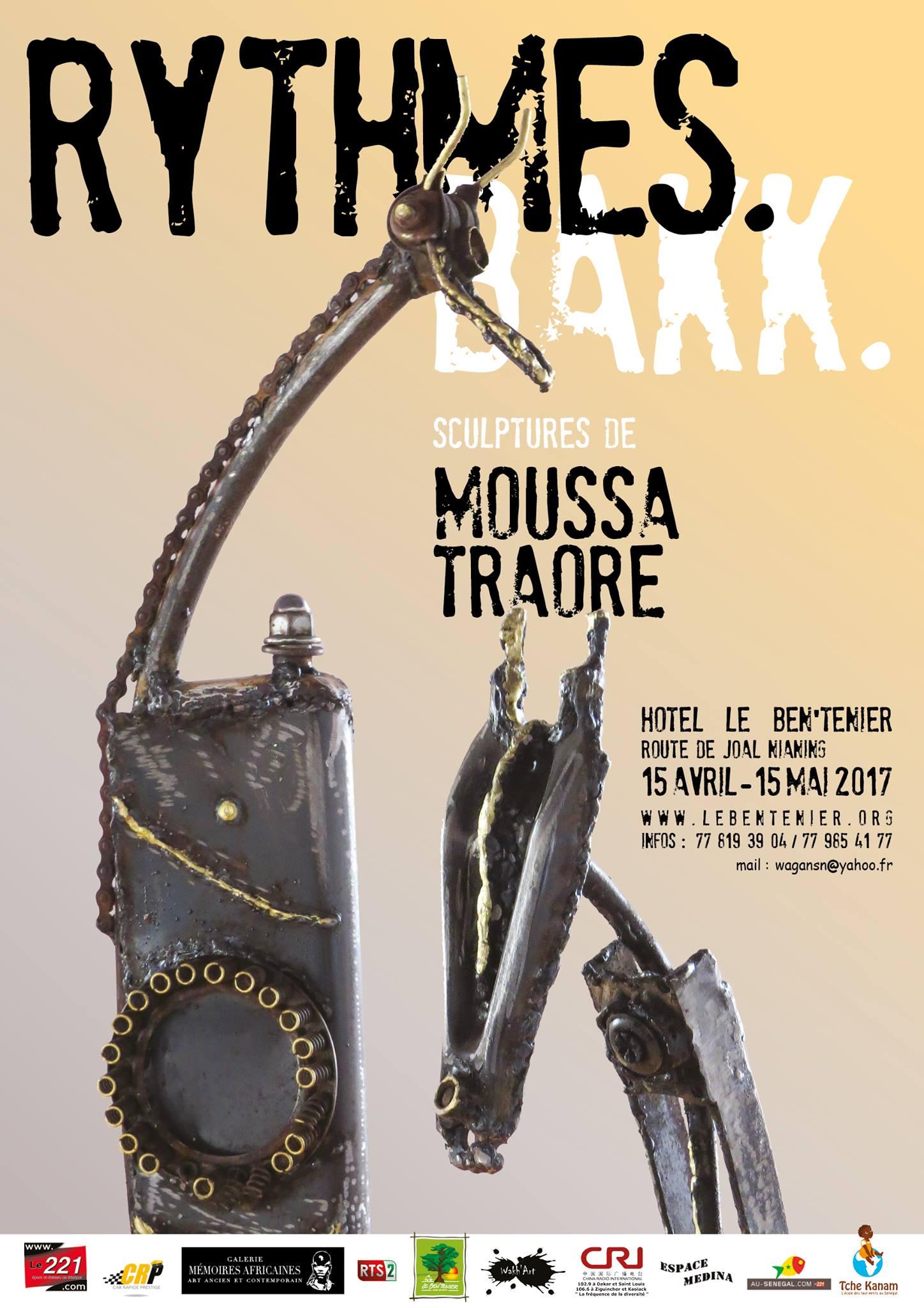 Rythmes Bakk- Sculptures de Moussa Traoré