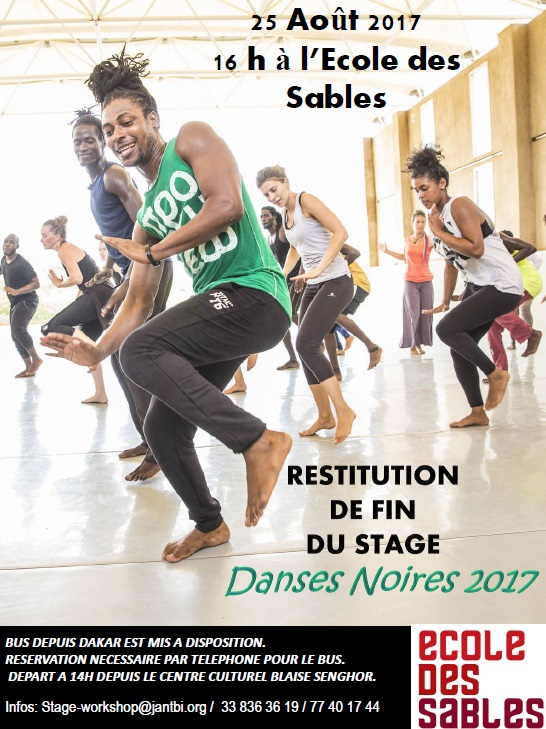 Flyer Restitution Danses Noires